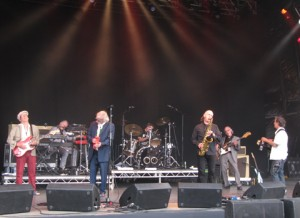 Blockheads on stage at Cornbury 2010