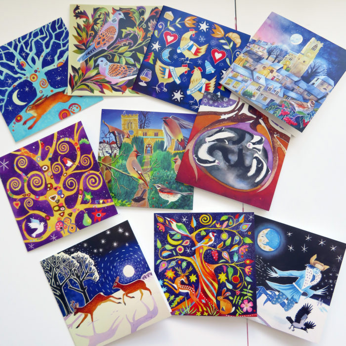 Secular greetings cards for Christmas and the festive season