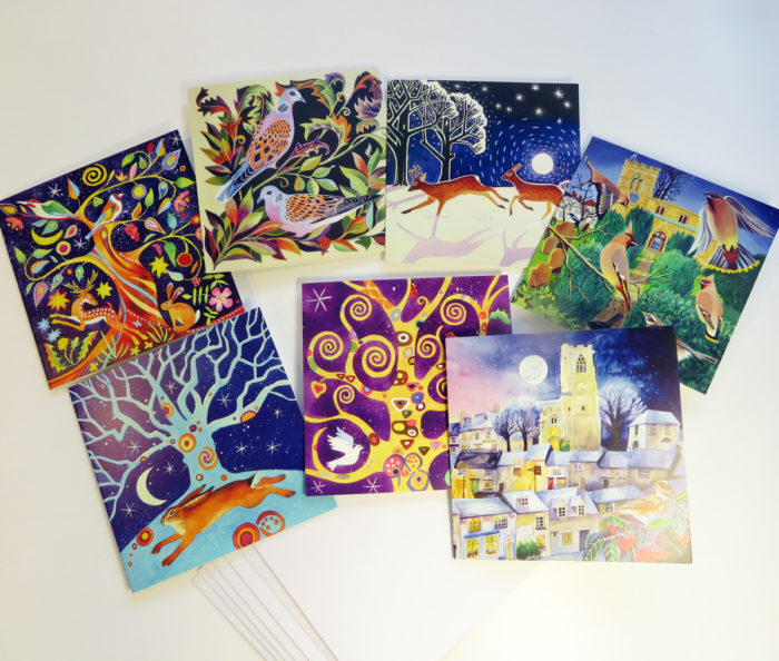 Winter greetings cards