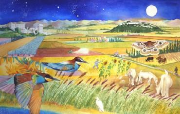 Vincent's harvest landscape