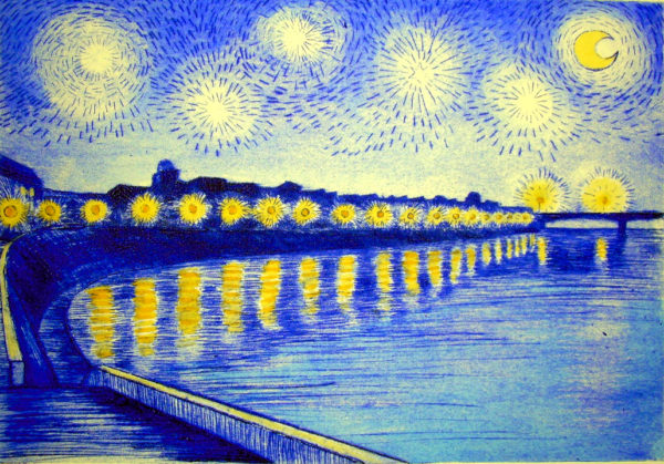 Vincent's starry night over the Rhone