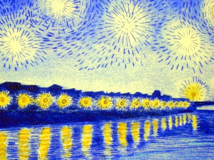 Starry night over the Rhone revisited