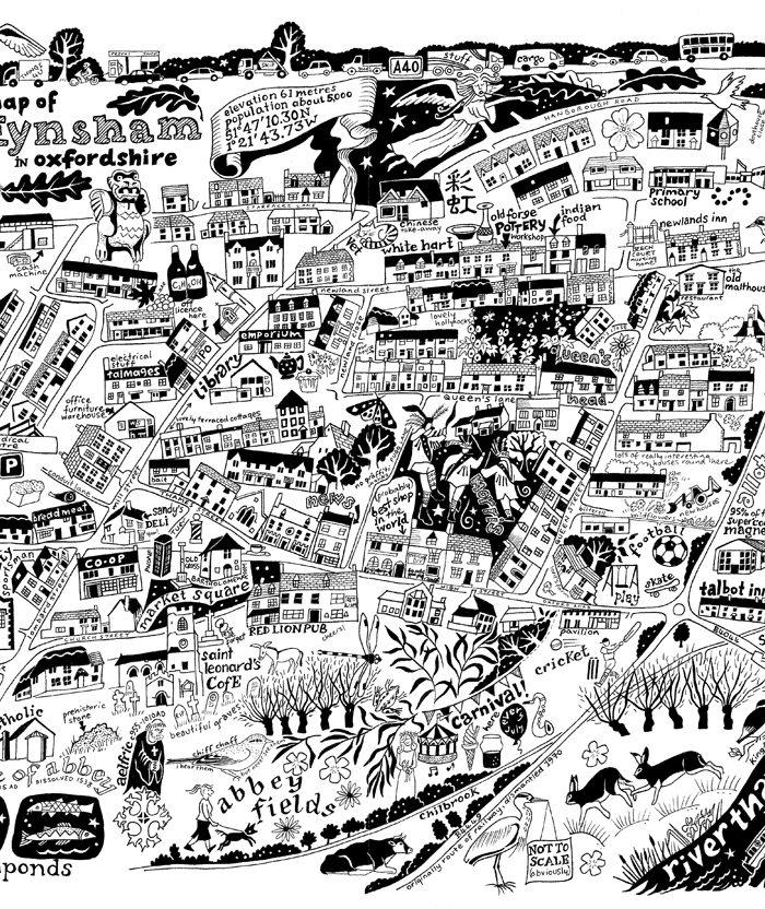 Map of Eynsham