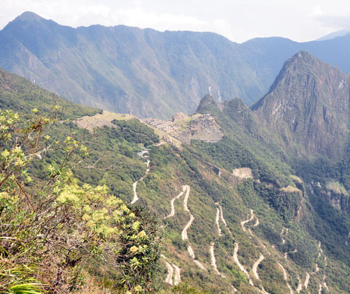 Machu Picchu twisty road