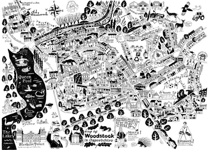 Map of Woodstock