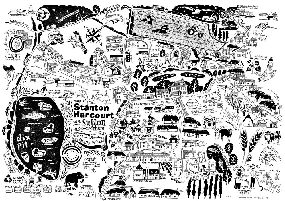 Map of Stanton Harcourt