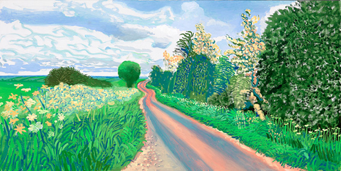 Early blossom by David Hockney