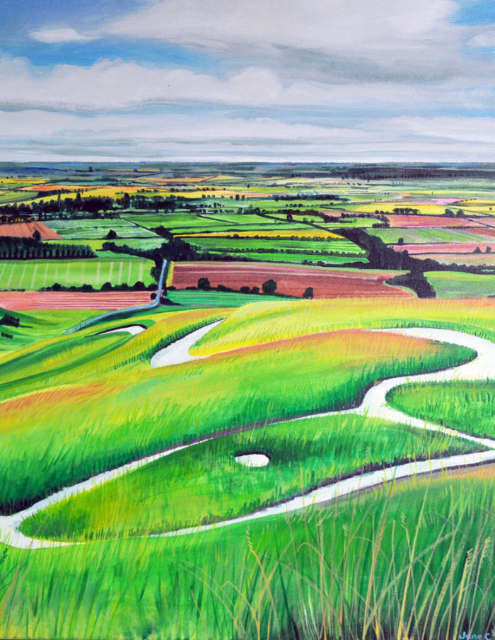 Towards Uffington
