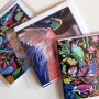 Beautiful birds - 6 greetings cards