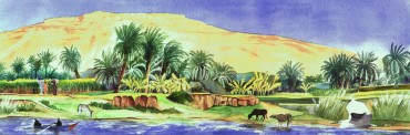 On the banks of the Nile