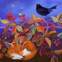 Fox and blackberries