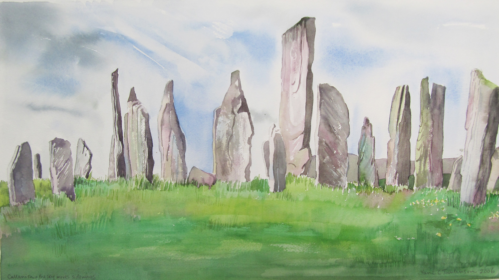 Callanish: the sky moves sideways