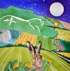 White horse brown hare