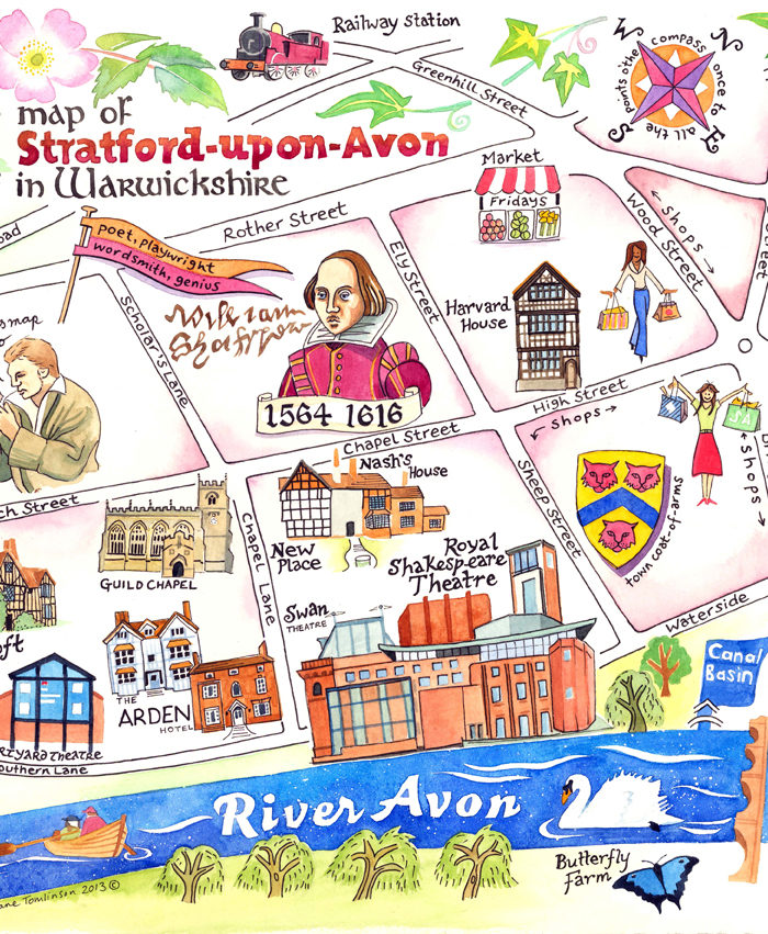 Arden Hotel map of Stratford-upon-Avon
