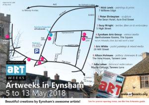 Artweeks in Eynsham 2018 - trail map