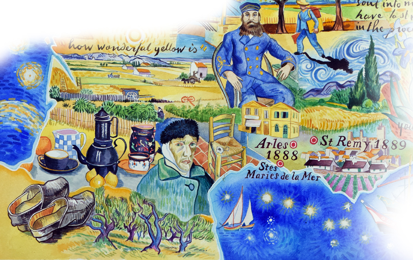 map of vincent van gogh