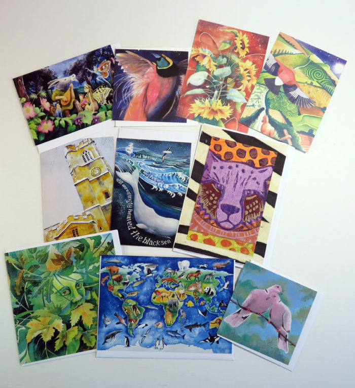 Bumper pack of greetings cards and postcards