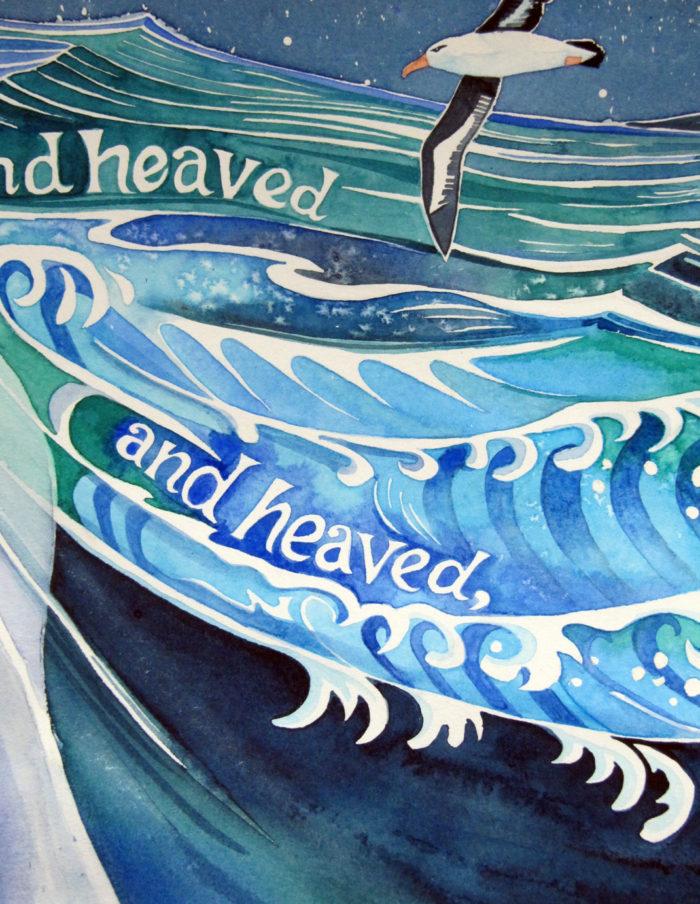 Heaved the black sea
