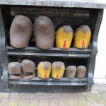 clogs outside a house
