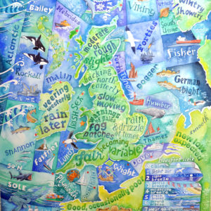 Shipping forecast painting
