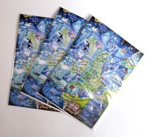 Photo of shipping forecast greetings cards