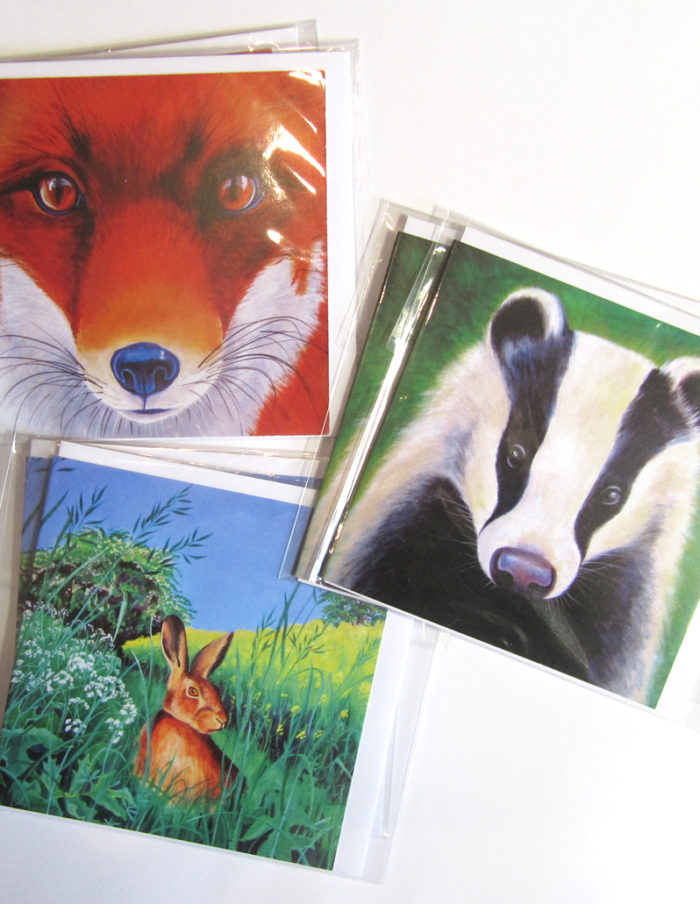 british mammals greetings cards