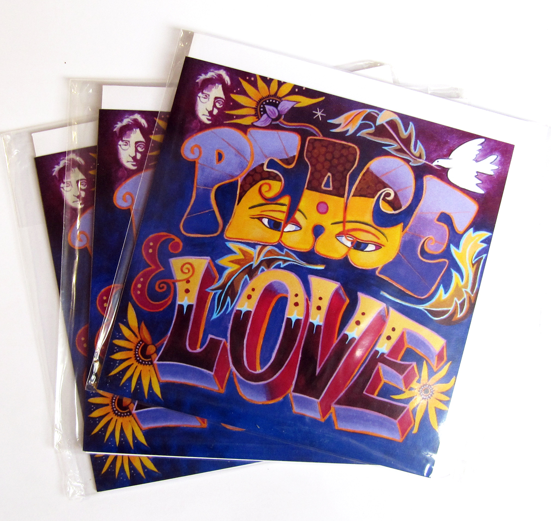 Peace and love greetings cards m4hsunfo