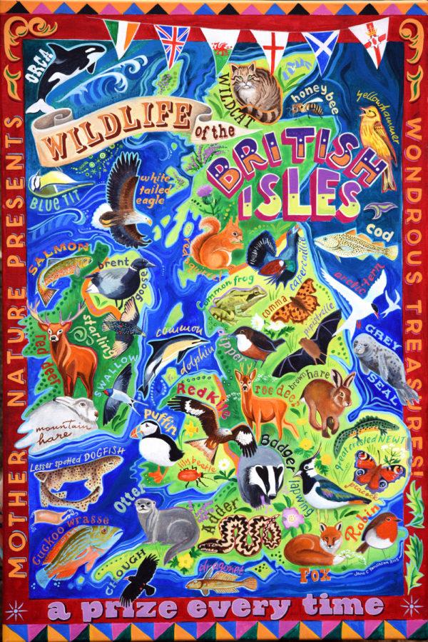 British Wildlife, map