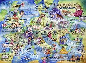 Shakespeare map painting