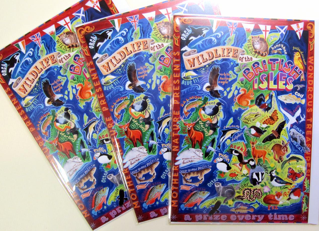 British Wildlife, Wildlife of the British Isles, greetings cards