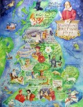 A painting of all Shakespeare's plays set in the British Isles