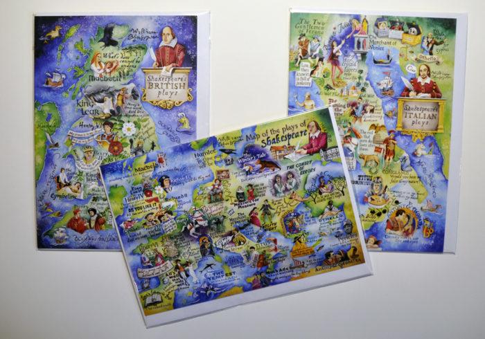 Shakespeare paintings greetings cards