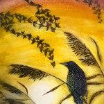 Starling in the reeds