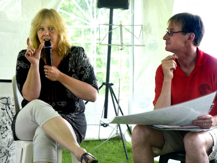 Speaking at the Charlbury Beer Festival