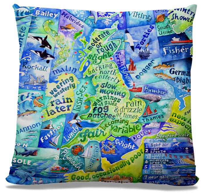 Picture of Shipping Forecast cushion