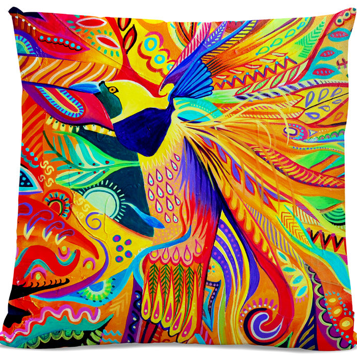 Picture of Bird of Paradise cushion