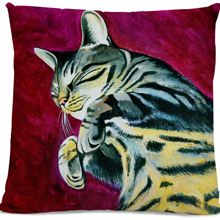 Picture of Tabby Cat cushion side B