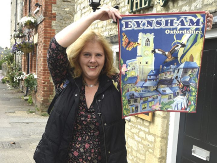 The Eynsham tea towel