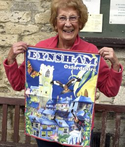 Eynsham souvenir tea towel