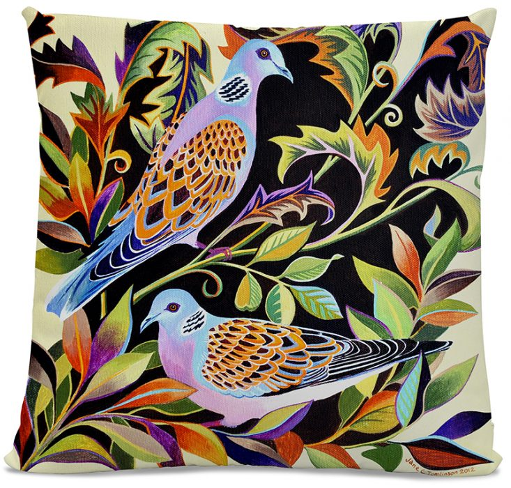 Picture of Two Turtle Doves cushion