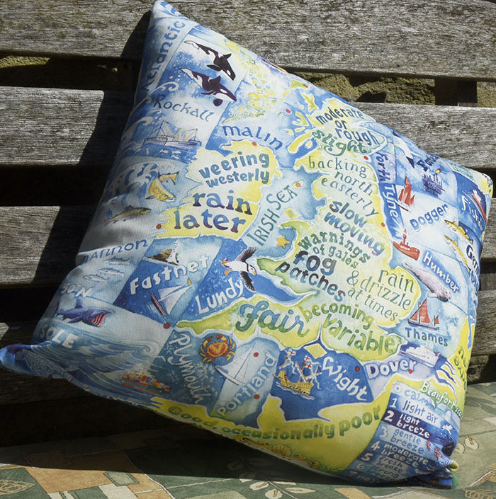 Shipping forecast cushion
