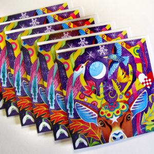 Photo of Folk Deer greeting cards pack