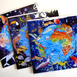 Photo of Planet Earth pack of 3 cards featuring 'Life on planet three' at front