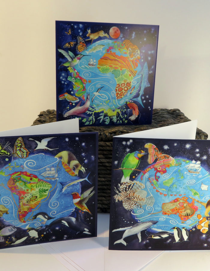 planet earth greetings cards
