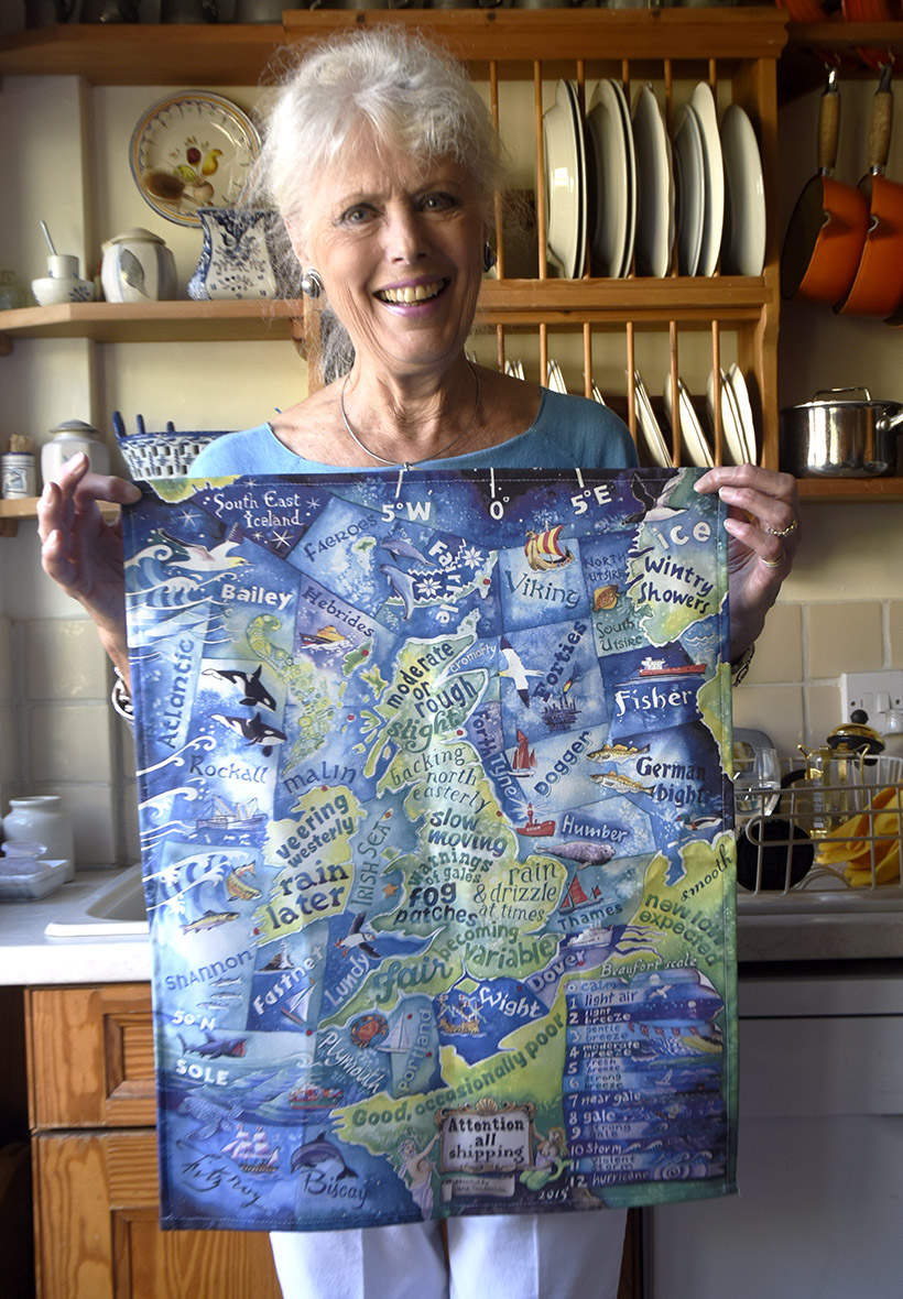 Shipping Forecast tea towel