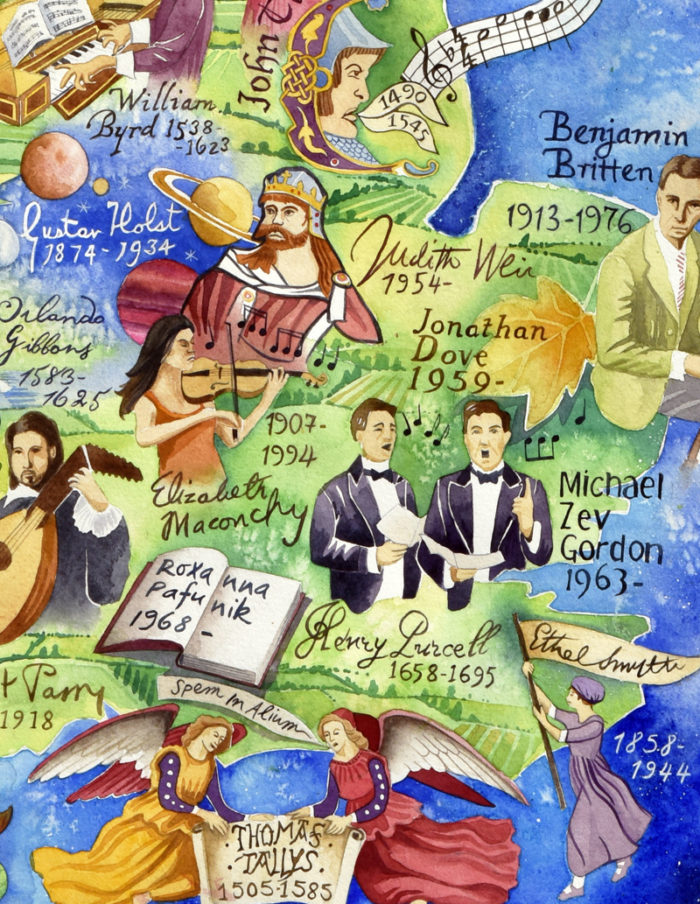 British Composers map