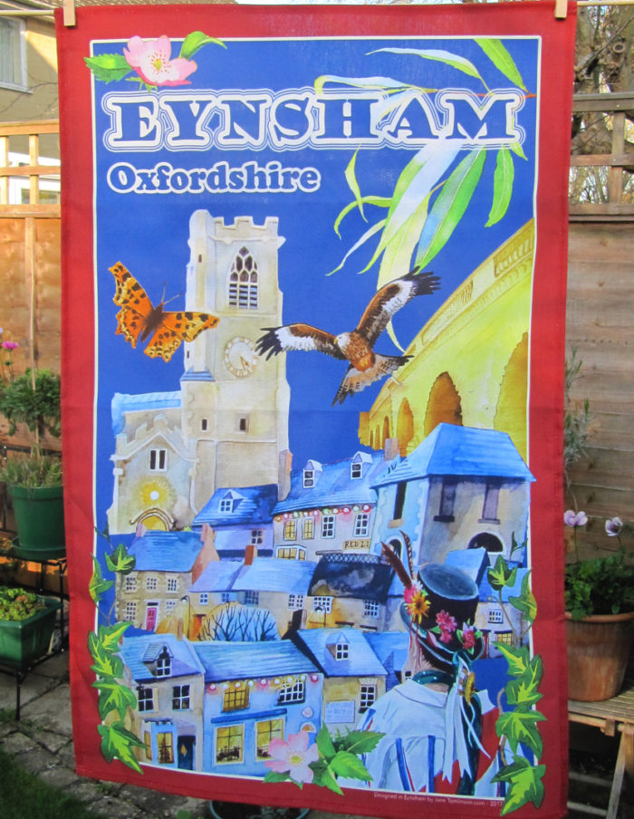 Eynsham tea towel