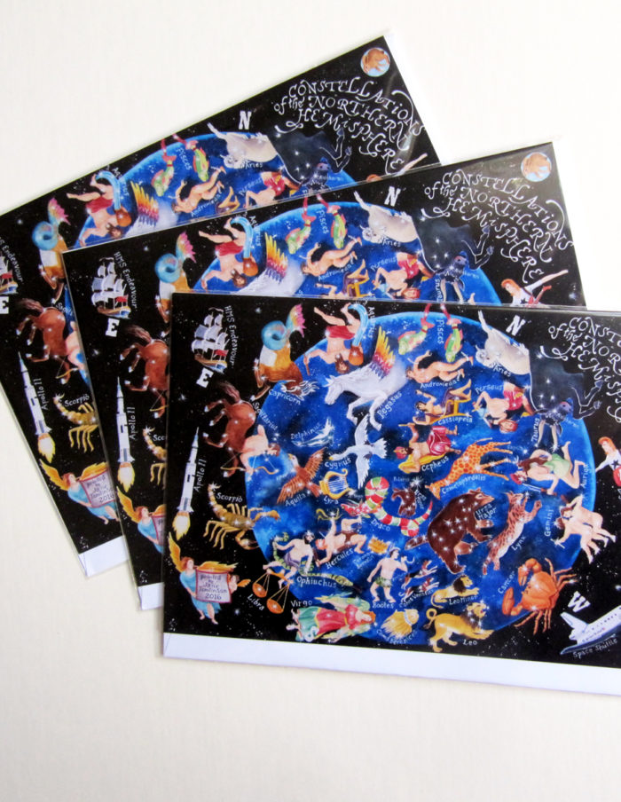 heavens above a map of the stars greetings cards