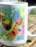 Photo of British butterflies mug