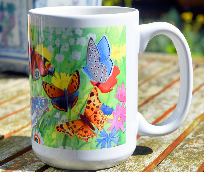 Photo of British butterflies mug